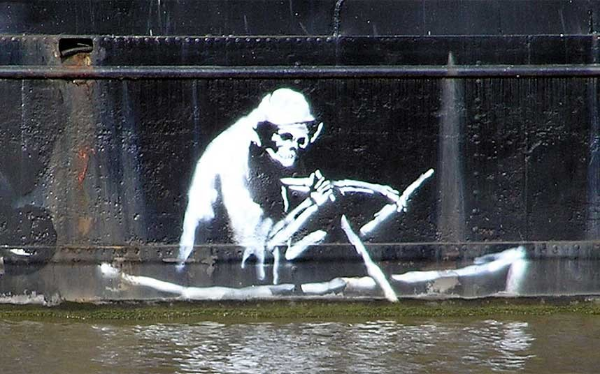 4. Еще одна из его известных работ, нарисованная в Бристоле.