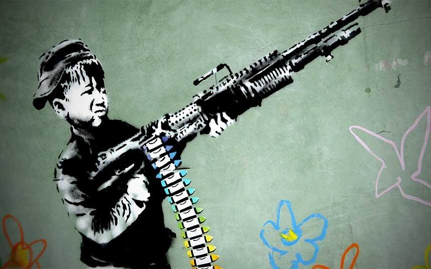 8. Crayola Shooter – работа Бэнкси в Америке.