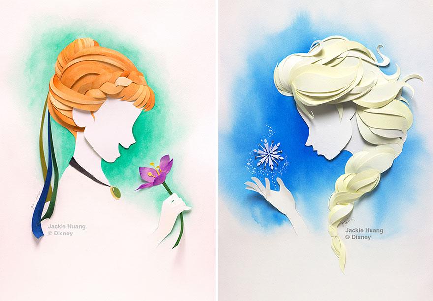 1. Анна и Эльза, «Холодное сердце».