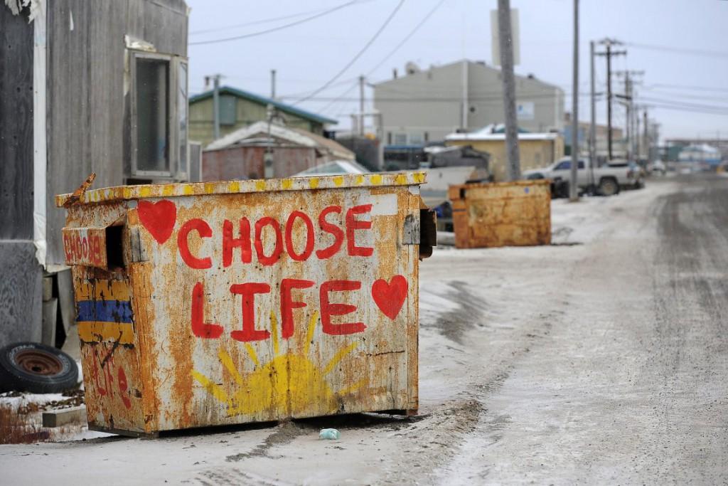 22. Возможно это способ скрасить серый пейзаж Аляски.