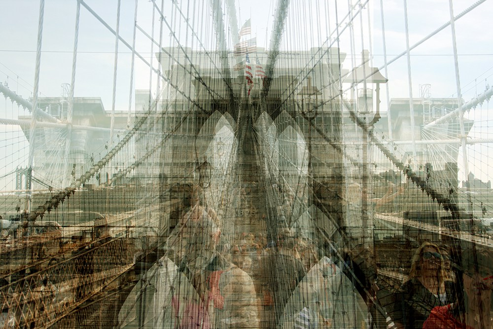 13. Бруклинский мост, Нью-Йорк.
