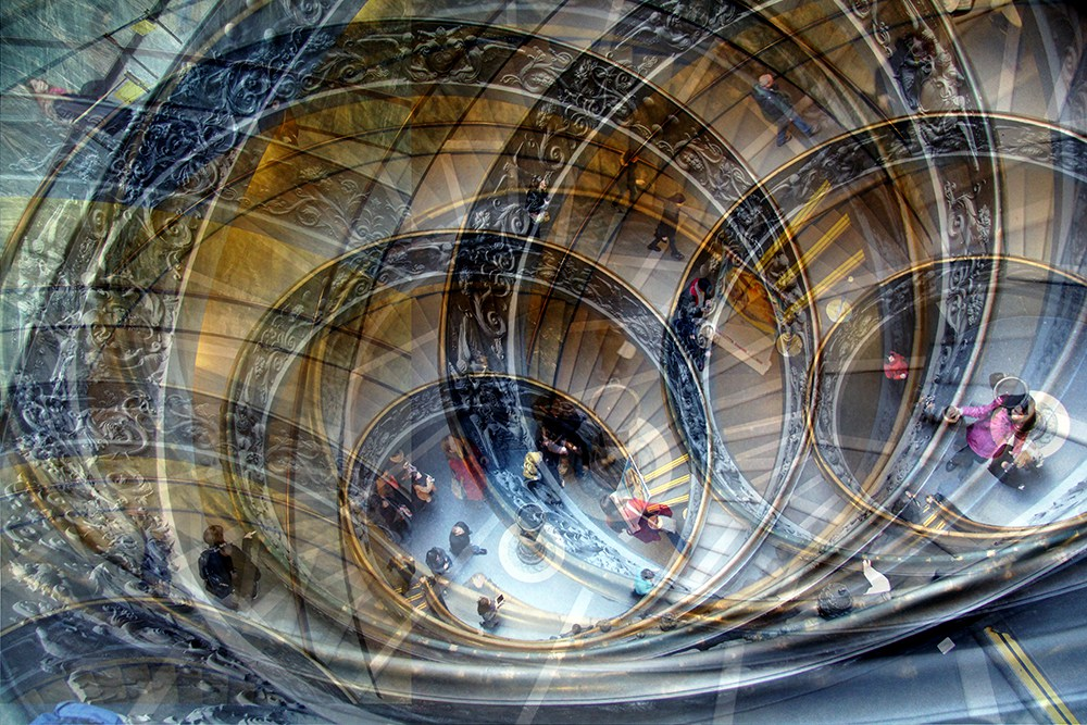15. Лестницы Ватикана, Рим.