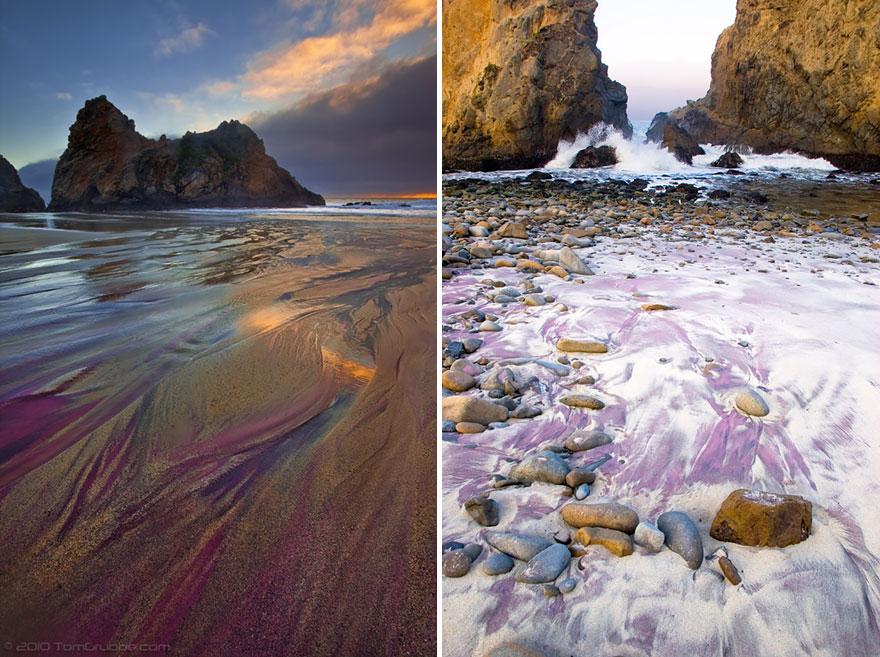 14. Фиолетовый пляж Пфайффер Бич, Калифорния.