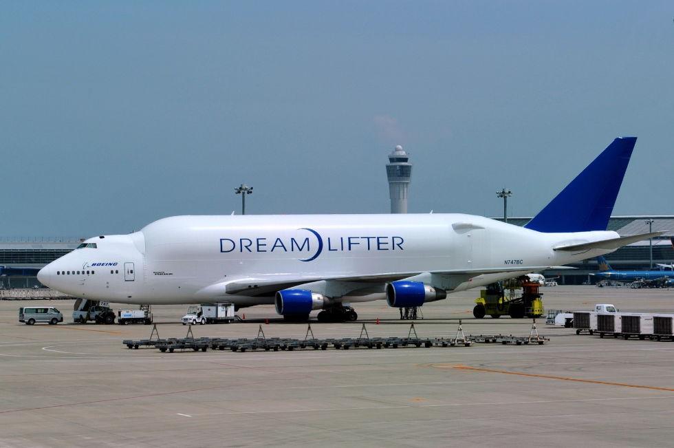 2. Boeing 747 Dreamlifter.