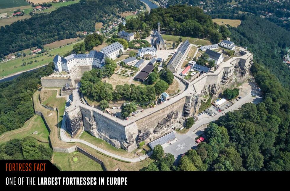 13. Крепость Кёнигштайн.