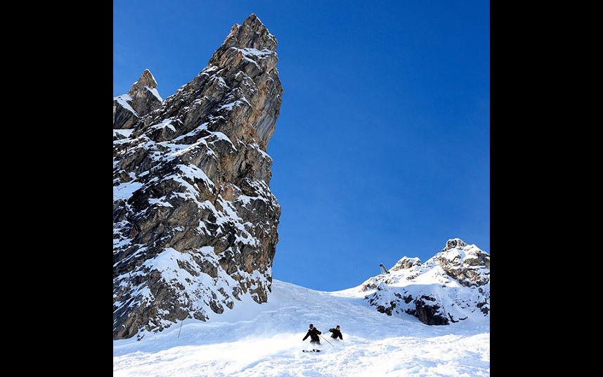 5. Гранд кулуар, Куршевель. Еще одна опасная горнолыжная трасса. Спуск по ней – настоящий экзамен на выживание.