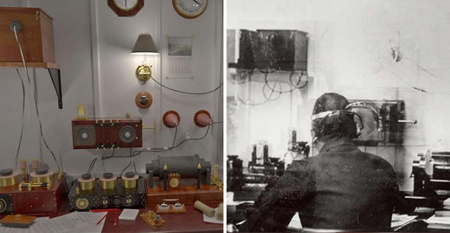 8. Комната Маркони. Радиоустановка позволяла радисту Титаника посредством азбуки Морзе выходить на связь с другими судами.