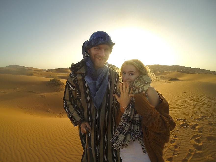 28. «Наконец, мы обручились в пустыне Сахара».