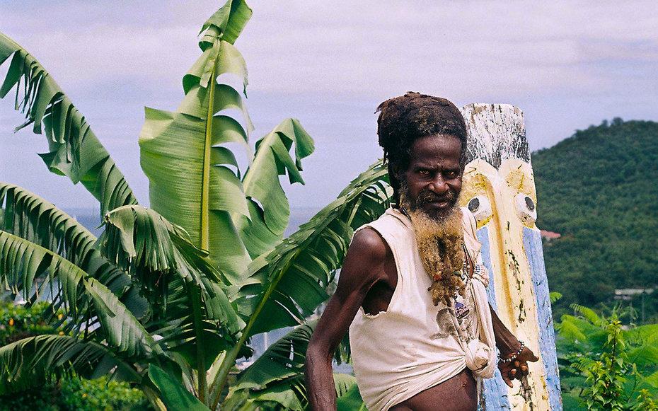 10. Местный житель, остров Сент-Люсия.