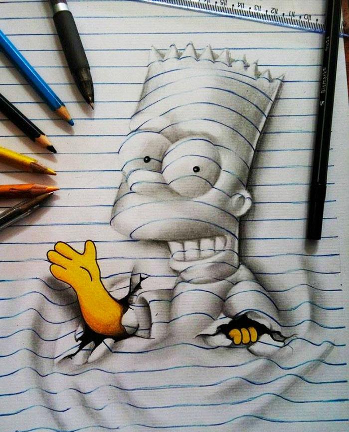 8. Барт Симпсон.