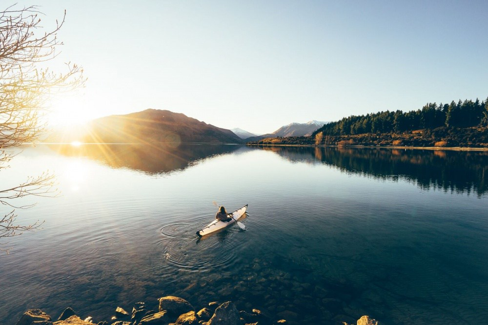 12. Рассвет на озере Ванака.