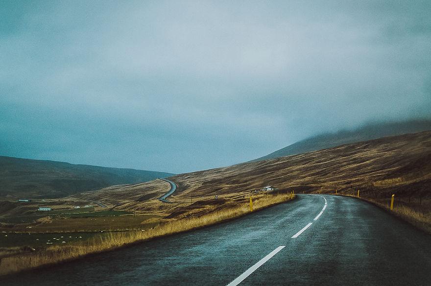 6. Северо-восток Исландии. Туманный и мокрый, но прекрасный.