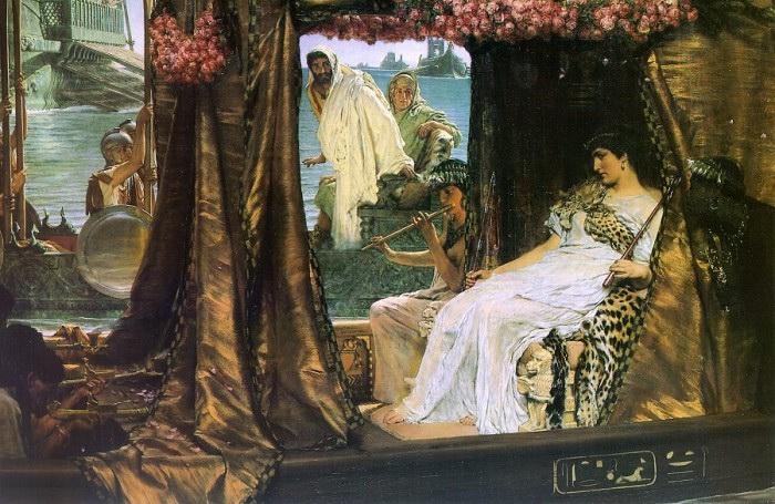 8 – Клеопатра и Марк Антоний.