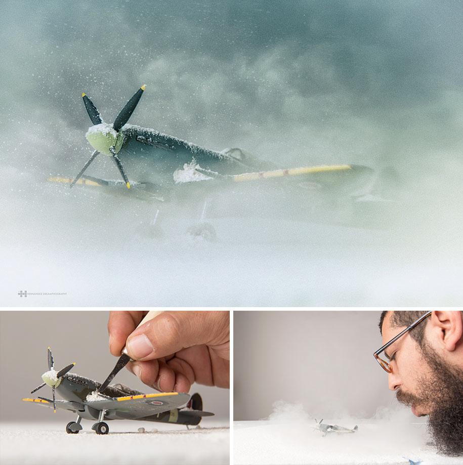 8. Самолет в снежной буре.
