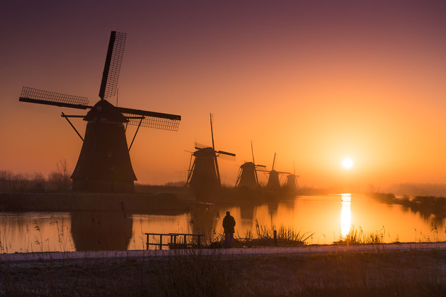 2. Зимнее утро в Нидерландах.