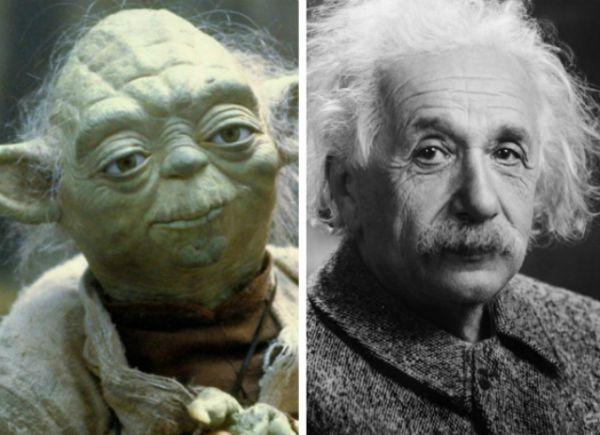 14. При создании магистра Йоды из Звездных Войн частично использовался образ Альберта Эйнштейна. В частности морщины, для придания персонажу мудрости.