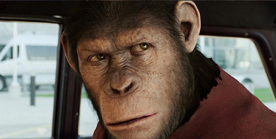 Восстание планеты обезьян - на экране.