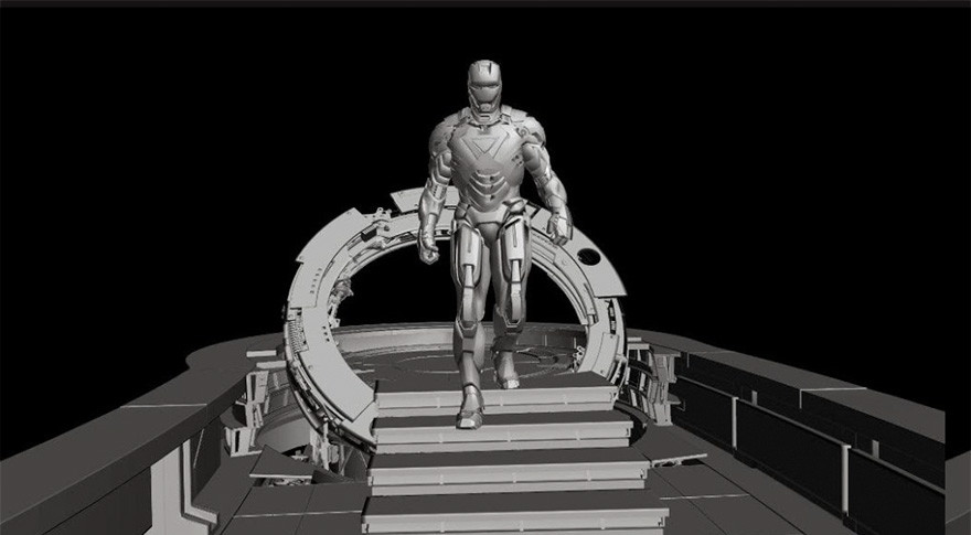 43. Железный человек - съемки.