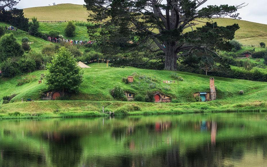 12. «Властелин колец» - Деревня хоббитов возле города Матамата, Новая Зеландия.