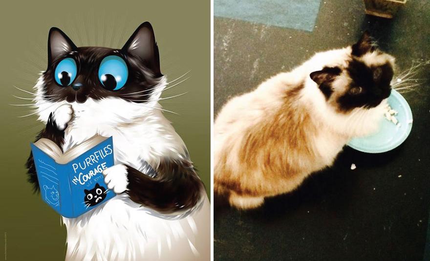 11. Смизерс пытается стать хорошим котом.