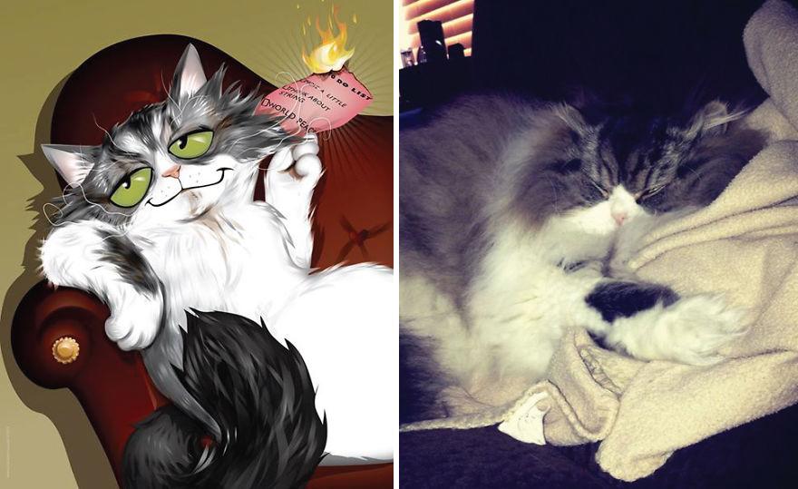 13. Оливер, ленивейший кот на планете.