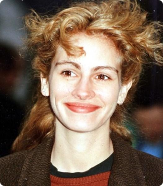 10. В 1990 Джулия Робертс часто экспериментировала со своими волосами.