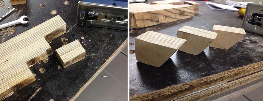 13. «Ножки системного блока я изначально планировал изготовить из алюминия, но потом все же решил сделать их из дерева».
