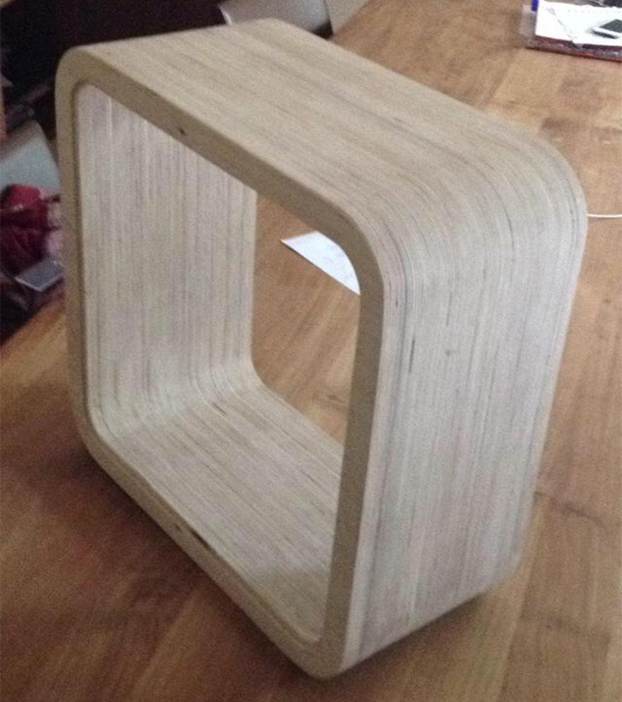 3. «Начало проекта. Первым делом была изготовлен деревянный каркас размером 420 на 420 мм».