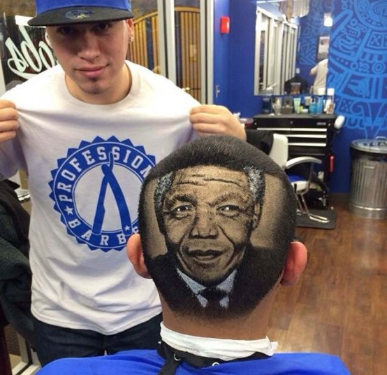 4. Бывший плотник обнаружил в себе талант после того, как его попросил подстричь его 14-летний брат. На фото – Нельсон Мандела.