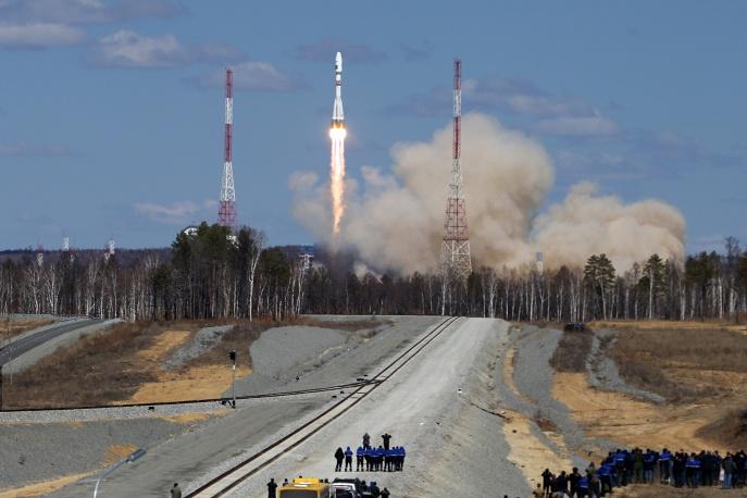 4. Спутники и верхняя ступень отделились примерно через девять минут после старта.
