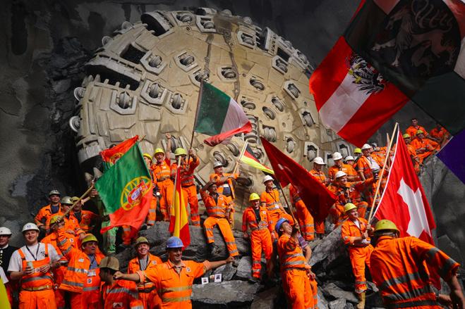 3. Готардский базовый туннель, Швейцария.