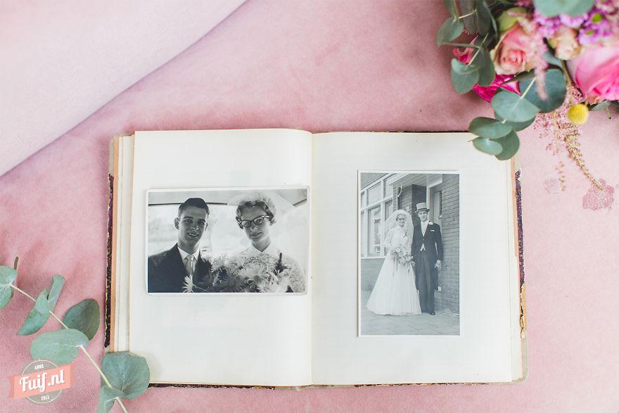 13. Свадебный альбом Питера и Грит. Это было ровно 55 лет назад.