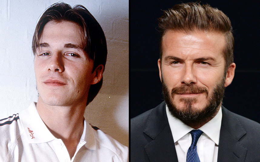 3. Дэвид Бэкхем всегда экспериментировал над внешностью. Многие помнят его с короткой стрижкой, длинной и не только. Мы помним его даже блондином. А вот теперь и с бородой.
