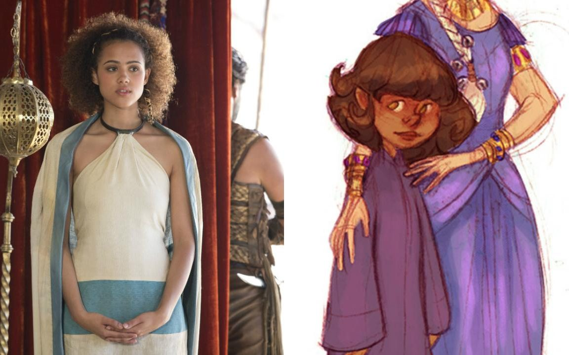 6. Миссандея. В книге ей всего 10 лет, а в сериале ее играет 27-летняя Натали Эммануэль.