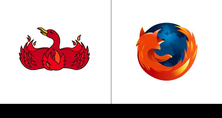 7. Оригинальный логотип Mozilla изображал феникса и был разработан в 2002 году. Позже название было изменено на Fifefox с сохранением огненных элементов.