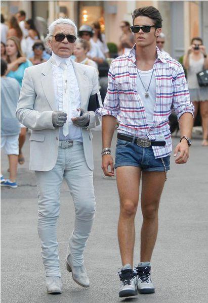 5. Короткие  шорты также оставьте красивым девушкам со стройными ногами. Мужские шорты не должны быть слишком короткими.