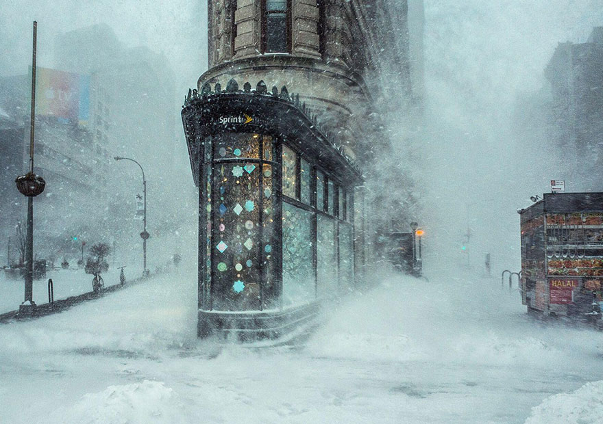 1. «Снежная буря на Манхэттене», Нью-Йорк, США.