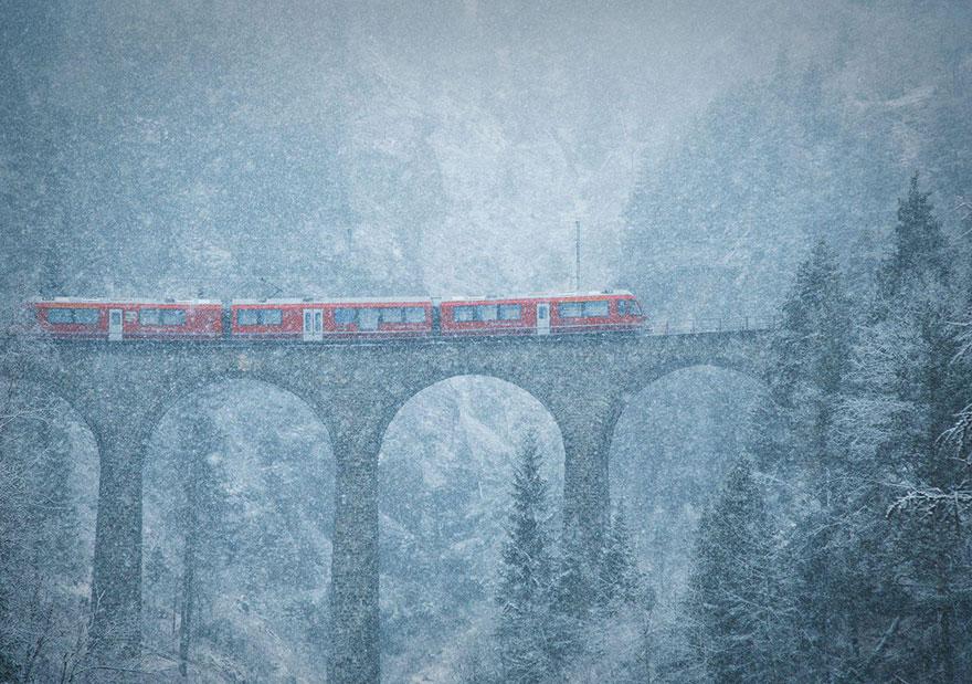 7. «Метель в горах», Швейцария.