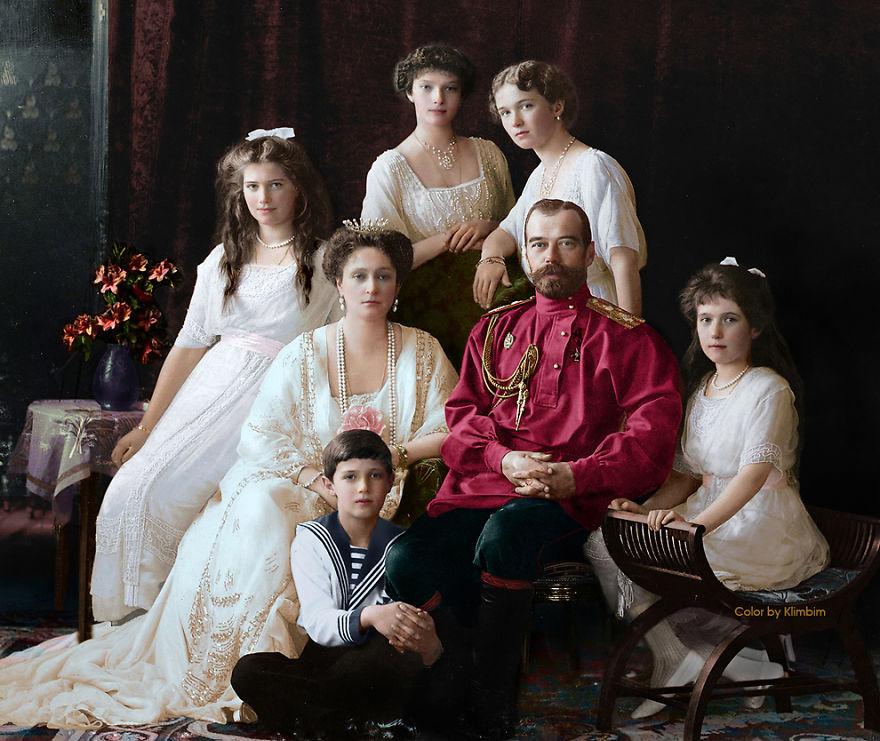 1. Царь Николай II с семьей, 1914 год.