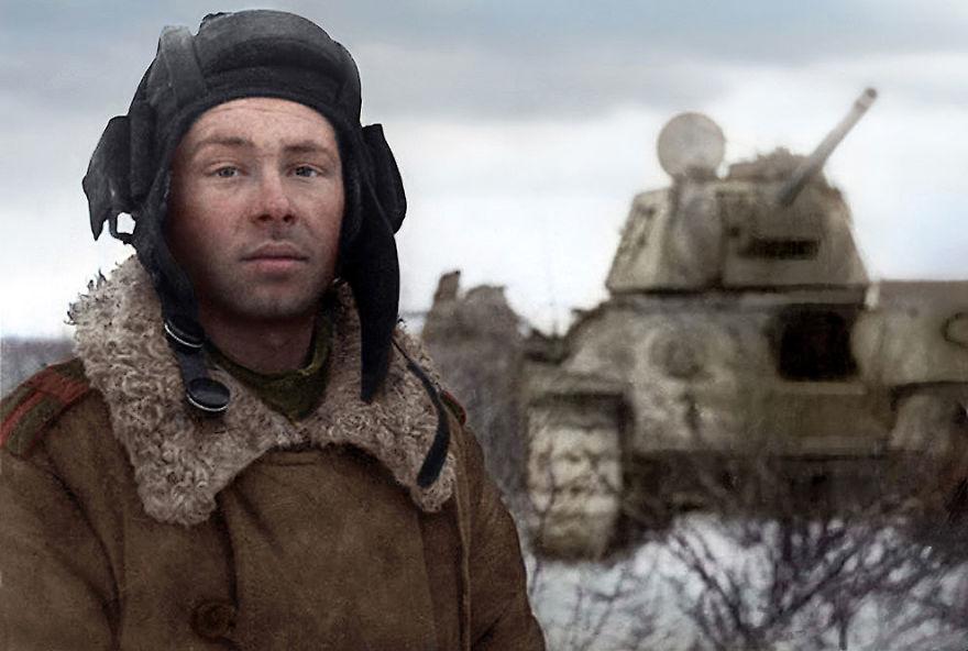 30. Танкист Михаил Смирнов, 1944 год.