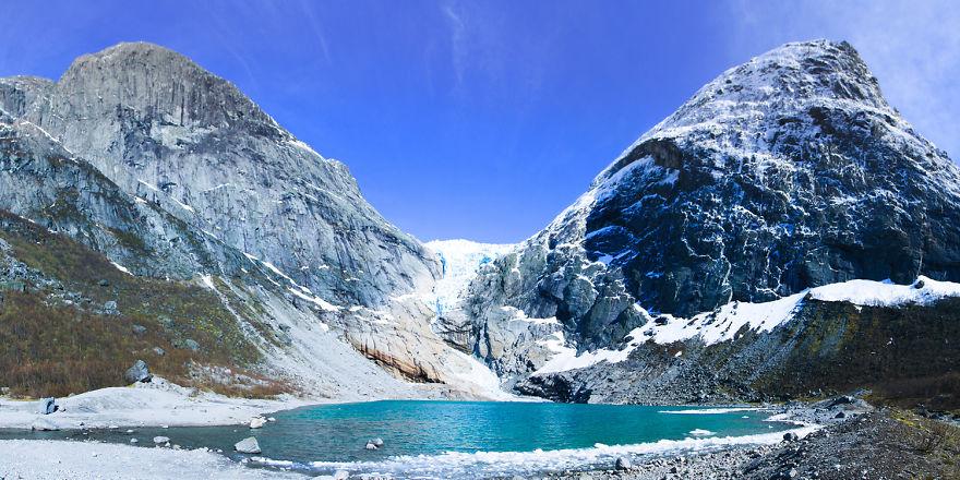4. Ледник Бриксдалсбреен, самый большой ледник Европы.