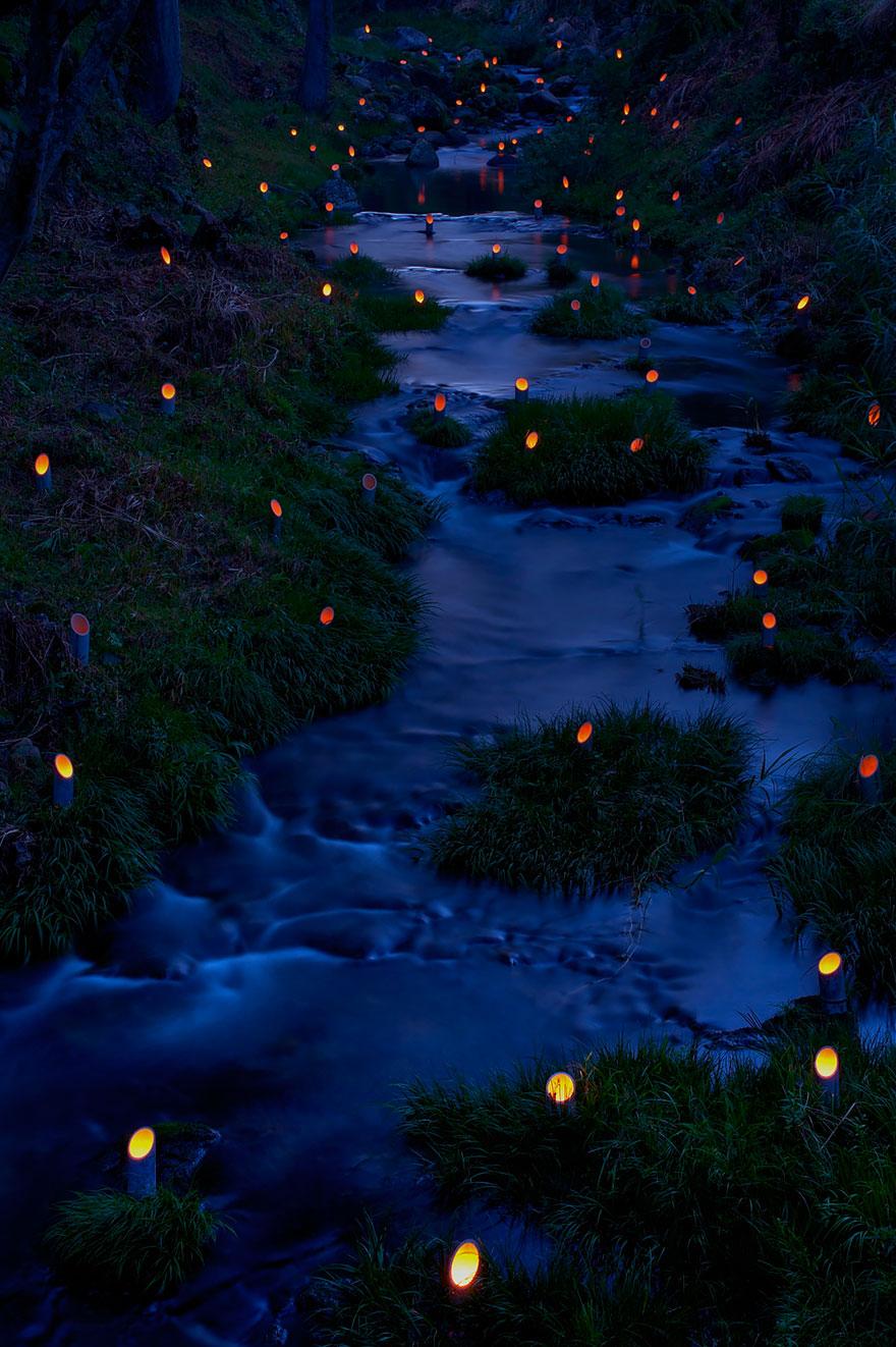 10. Фестиваль бамбуковых светильников в городе Такета.
