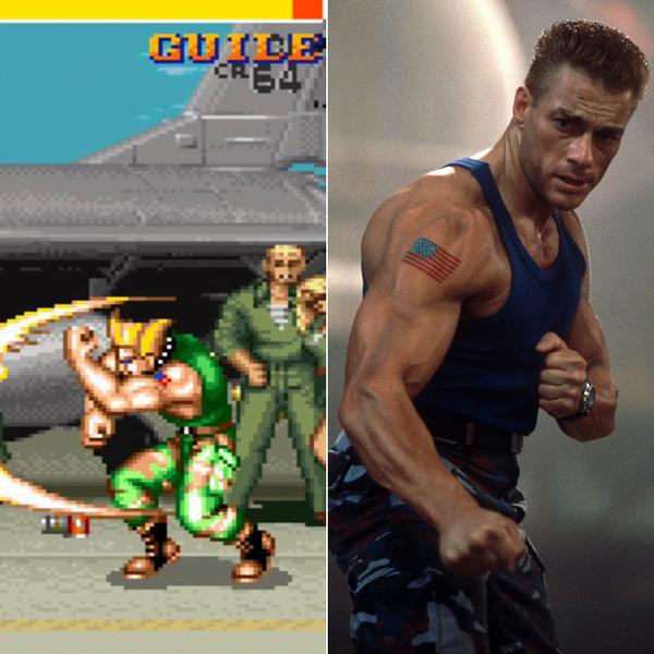 1. Фильм Уличный боец по мотивам популярной игры Street Fighter II. Жан-Клод Ван Дамм сыграл Уильяма Гайла.