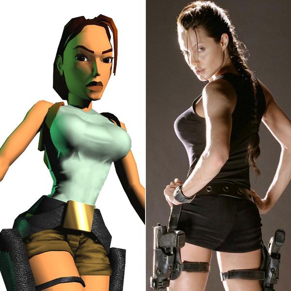 """3. Анджелина Джоли, в роли Лары Крофт по мотивам игры """"Tomb Raider""""."""