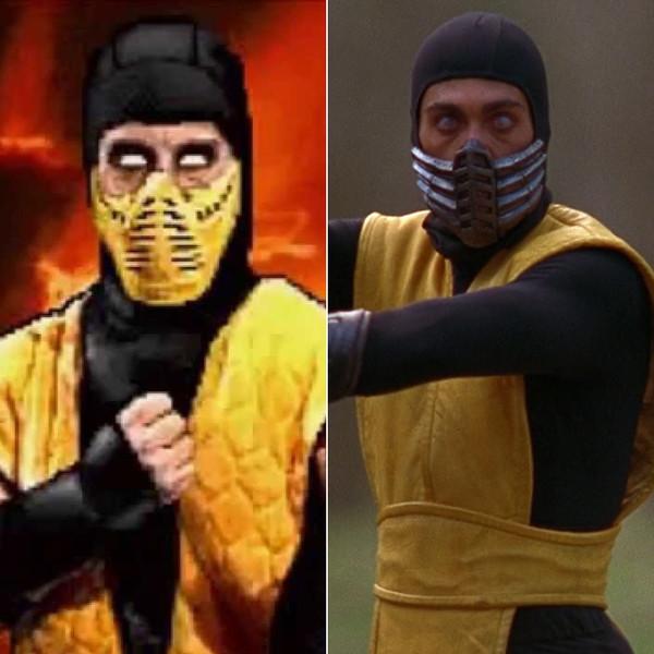 5. Крис Касамасса в роли скорпиона из Mortal Kombat.