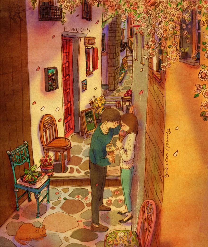 4. Остановиться в переулке, чтобы признаться ей в любви.