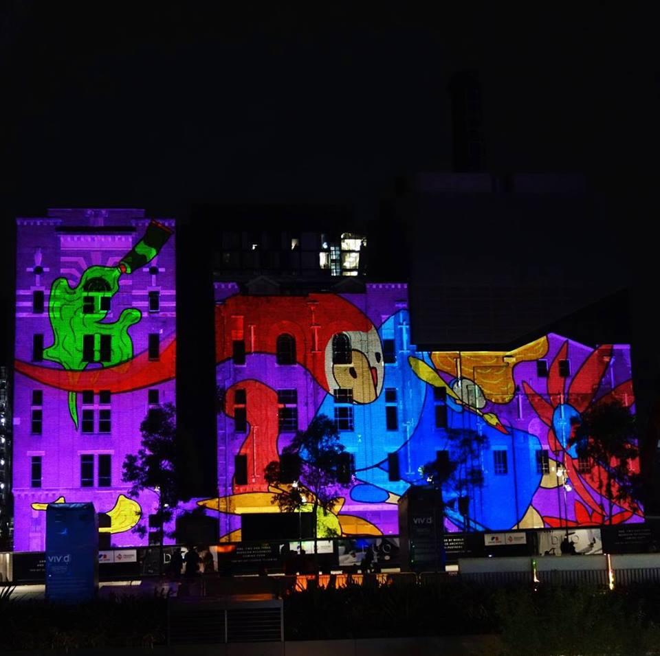 9. Невероятные огни в центральном парке Сиднея.