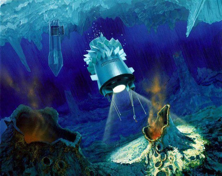 7. Погружение под лед океана Европы.