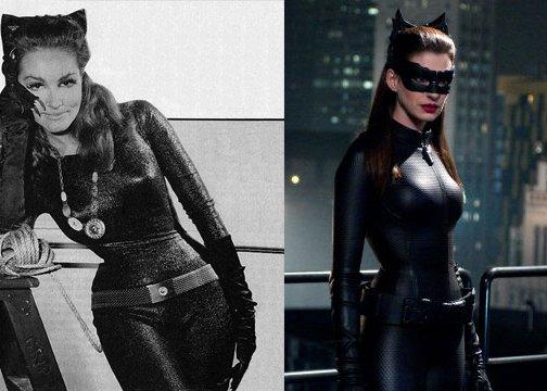 6. Женщина-кошка 1966 и 2012.