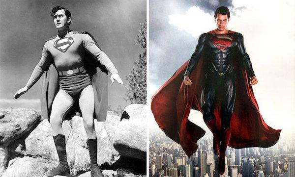 8. Супермен 1948 и 2016.